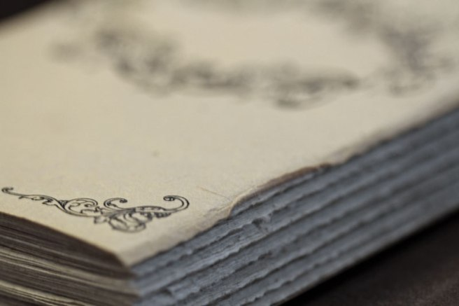 ...And gorgeous antiqued pages.